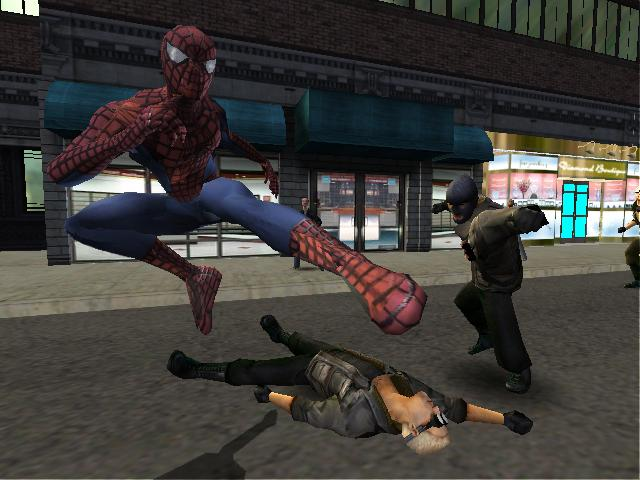 Game 2 Ps2 Man Spider 2004