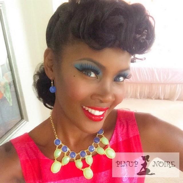 Estilo Pin-up para Negras: maquiagem