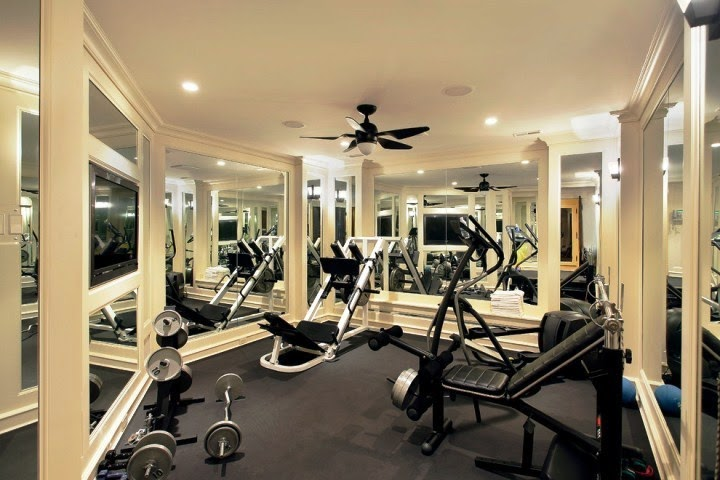 wall color ideas for home gym