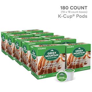 BEST Green Mountain Coffee Roasters Caramel Vanilla Cream Light Roast Coffee Keurig Single-Serve K-Cup Pods, 10 pk./18 ct.