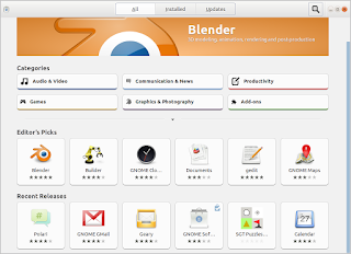 Software center on Lubuntu 17.10