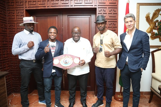 """You Have My Support"" – President Akufo-Addo To Isaac Dogboe, Ghanaian Boxers"