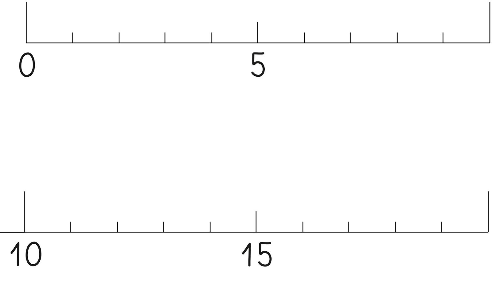 Lernstübchen Der Zahlenstrahl Zum Basteln