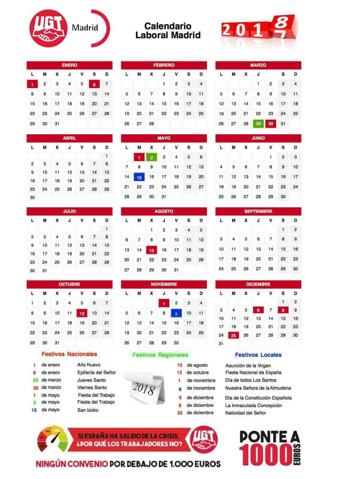 Calendario Laboral Madrid 2020 Ugt.Seccion Sindical De Ugt Madrid En Banco Santander El Sindi