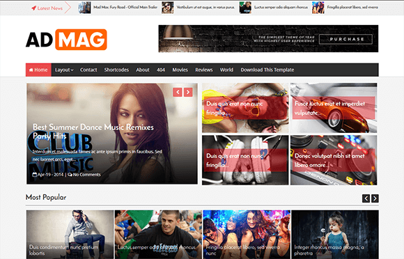 AdMag responsive blogger template 2016