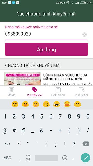 Nhập mã khuyến mãi MoMo để nhận quà tặng 100k
