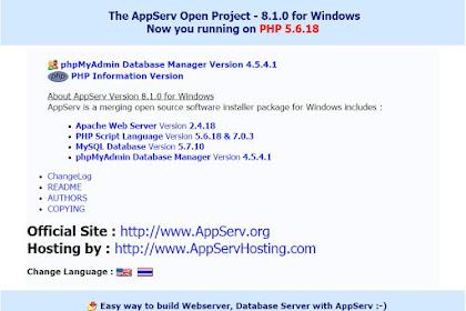 Membuat Server Local Menggunakan AppServ Terbaru