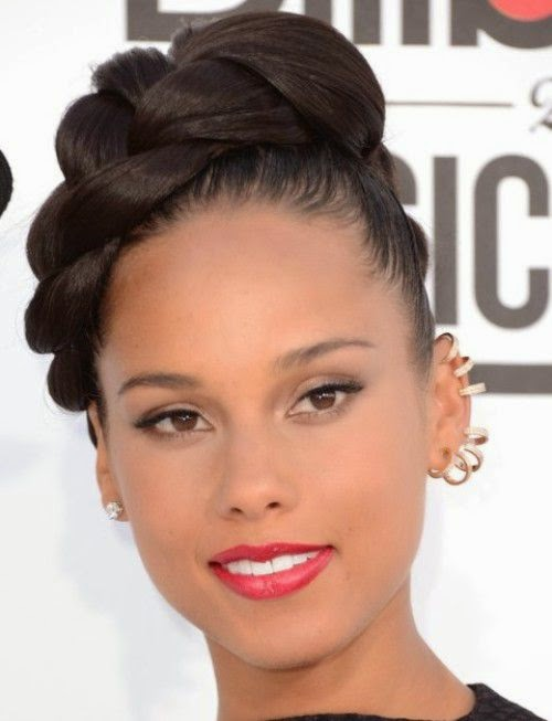 Peachy Top Hairstyles Models Latest Black Hairstyles Updos 2015 Trends Hairstyles For Women Draintrainus