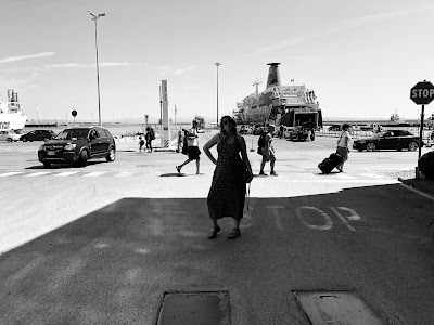 Waiting for the ferry at Piombino.