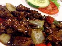 Resep masakan tumis hati sapi saus tiram