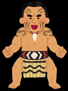 マオリ族のハカのイラスト2