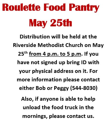 5-25 Roulette Food Pantry