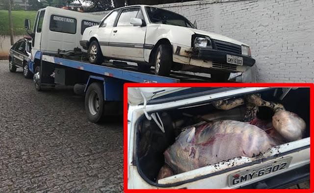 Quadrilha que roubava gado abandona veículo em Jacutinga(MG)