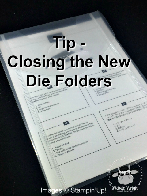 Tip, Closing New Die Folders, Stampin' Up