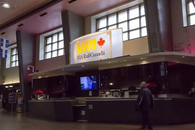 Via Rail Canada in Central Station in Montréal, Canada