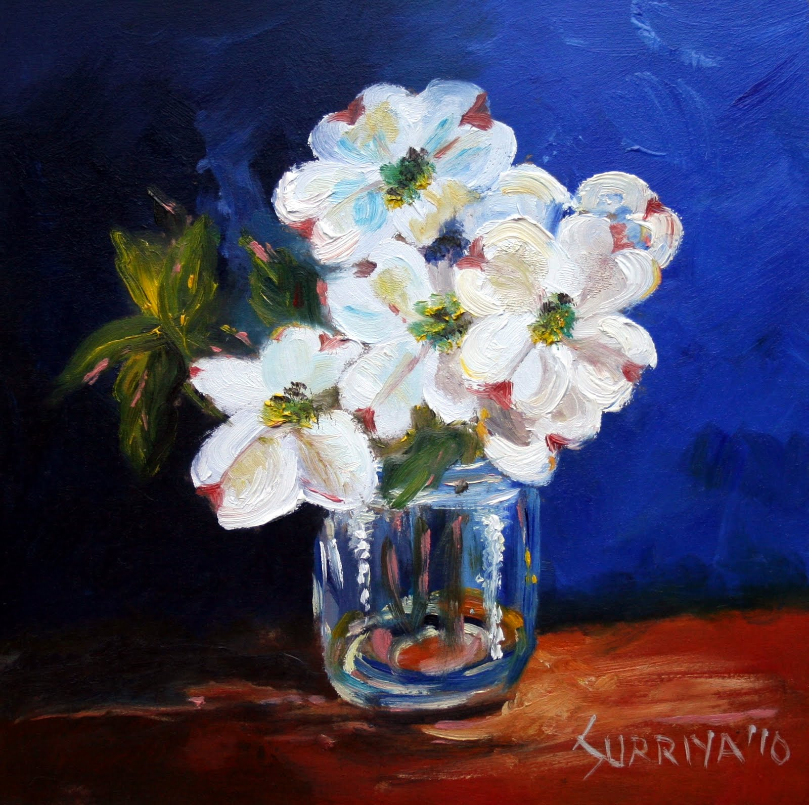 Painting A Day By Surriya Simple Flowers