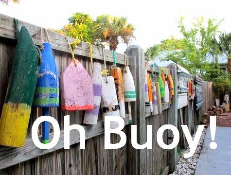 nautical fence idea with buoys