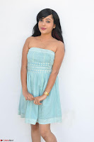 Sahana New cute Telugu Actress in Sky Blue Small Sleeveless Dress ~  Exclusive Galleries 014.jpg