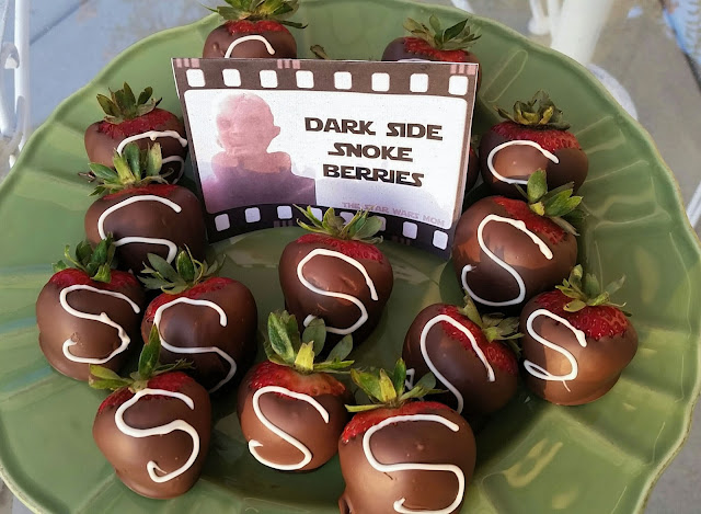 Chocolate covered Snoke Berries from the Dark Side Recipe and Free printable label