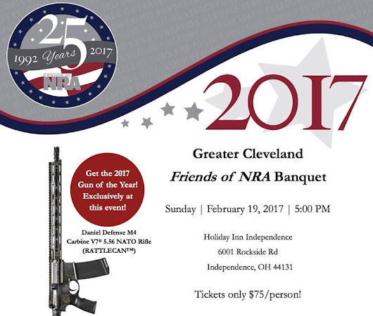 Greater Cleveland Friends of the NRA Dinner - Feb. 19th - RSVP NOW!