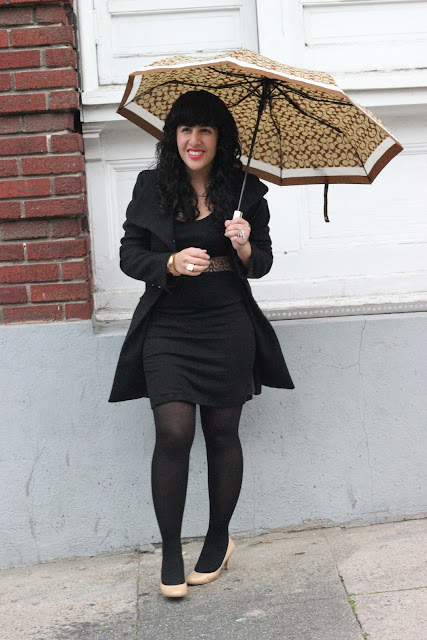 Rainy Day Outfit Office Style Inspiration