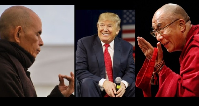 Trump Says He Will Turn To Dalai Lama and Zen Master Thich Nhat Hanh For Spiritual Guidance But Not The Pope
