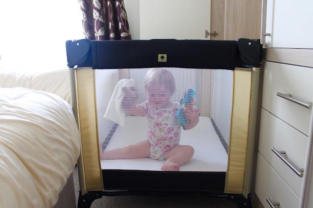 travel cot fit in a bedroom in a caravan