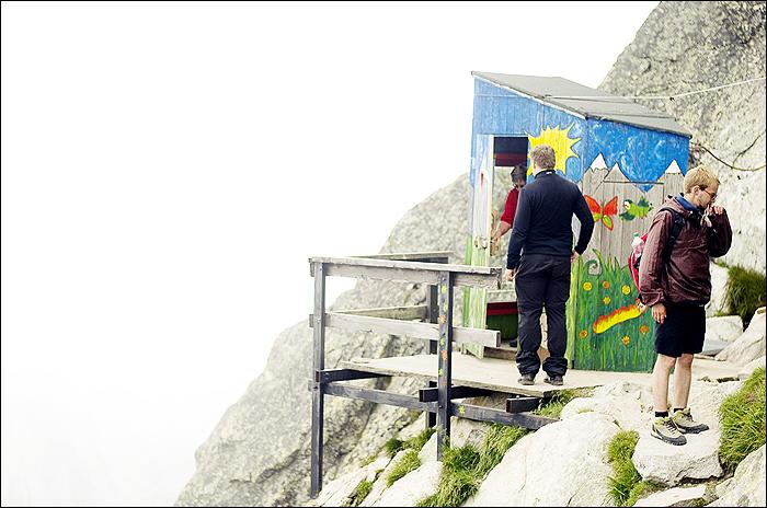 Chata Pod Rysmi auf dem Rysi in der Hohen Tatra
