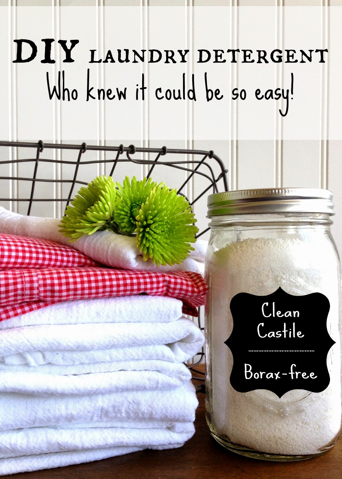 Homemade LAUNDRY detergent: Discover the amazing cleaning power of this non-toxic, Borax-free recipe!
