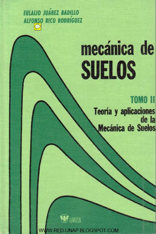Mecánica de suelos, Tomo II: Teoría y aplicaciones de la mecánica de suelos – Eulalio Juárez Badillo y Alfonso Rico Rodríguez