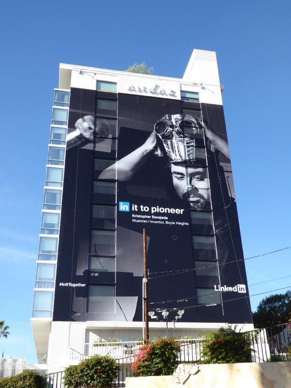 Giant LinkedIn pioneer billboard