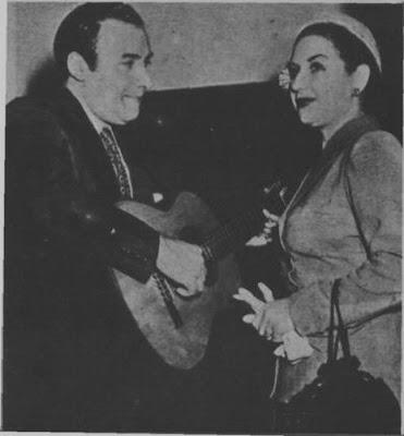 Aída Denis con Agustín Irusta