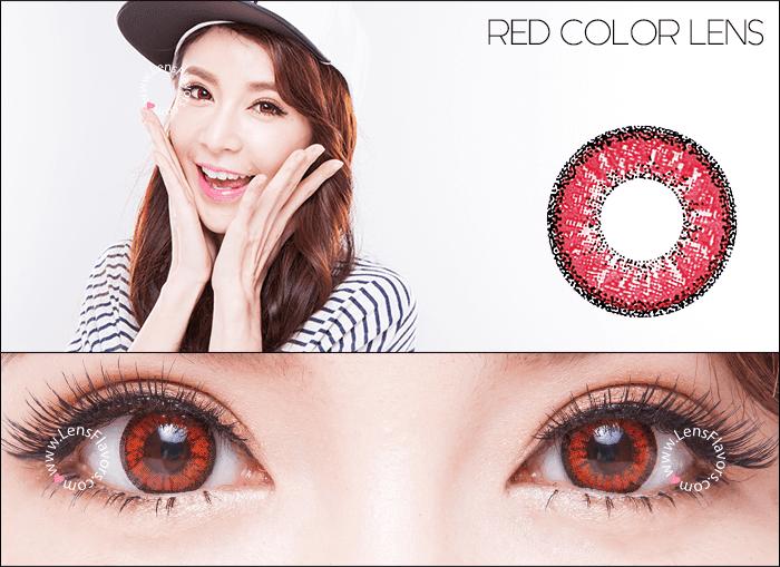 venus eye bright red circle lenses