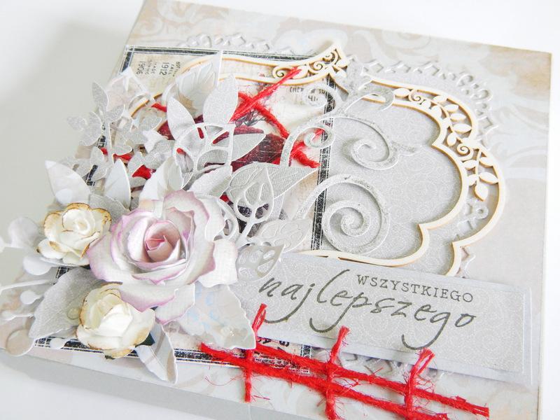 Pudełko handmade na biżuterię w szarościach