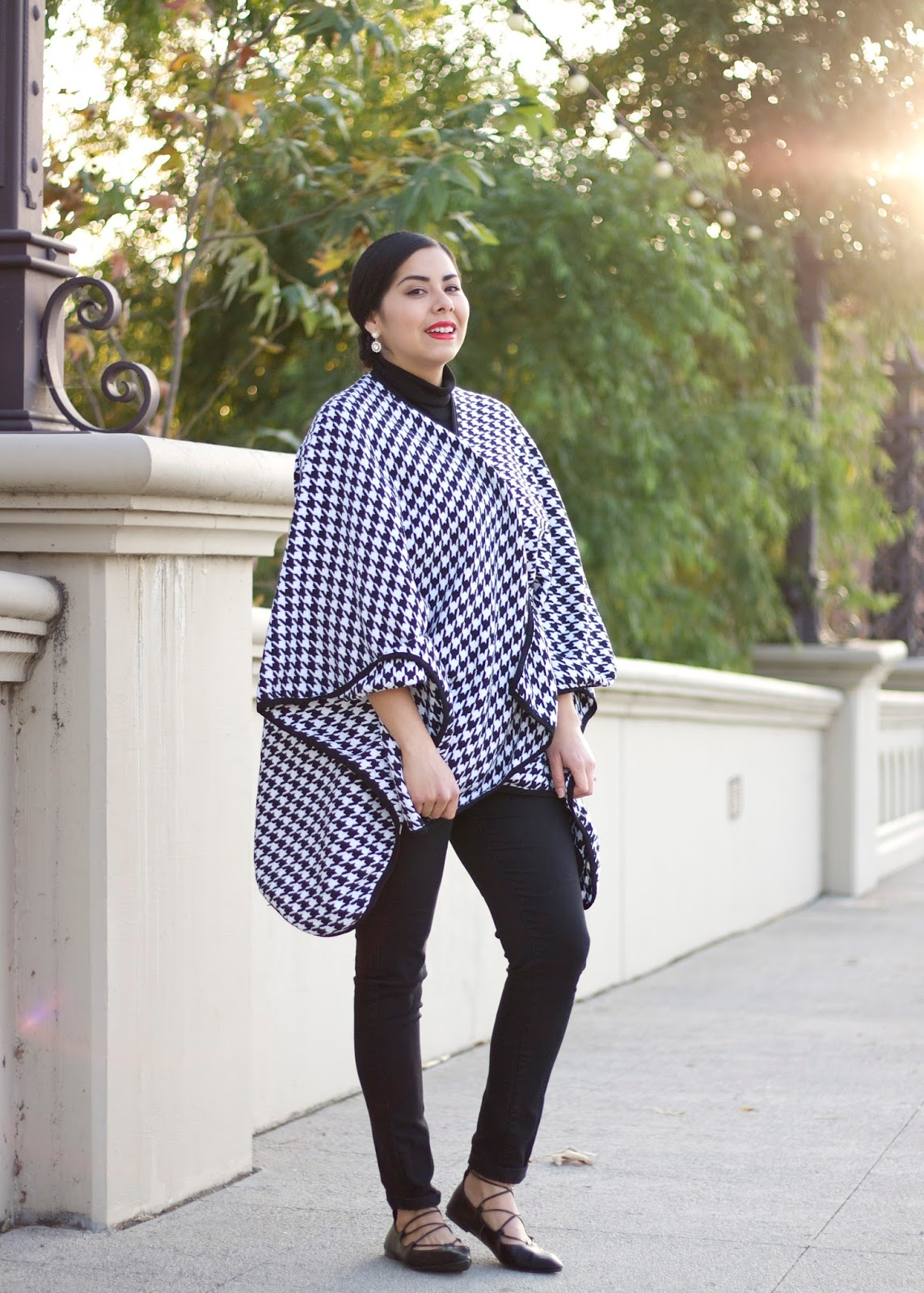 San Diego Fashion Blogger, what to wear to the office holiday party, houndstooth coat, san diego style blogger