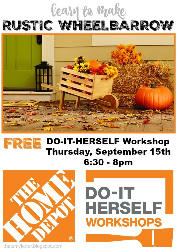DIH Workshop rustic wheelbarrow