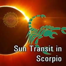 Sun enters in Scorpio Sign