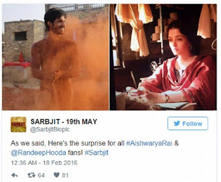 Sarabjit First look on twitter