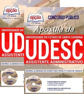 Apostila Universidade do Estado de Santa Catarina Assistente Administrativo 2018