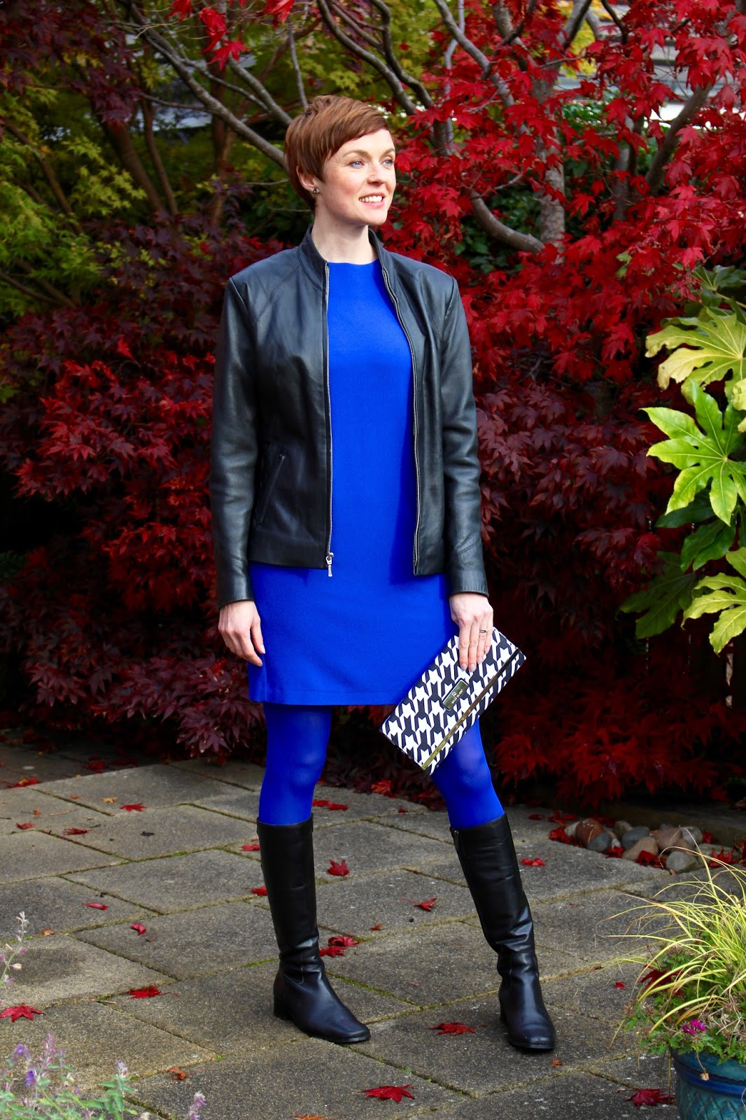 Cobalt Blue and Black Leather | Fake fabulous