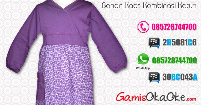 Baju Gamis Anak Perempuan Bahan Kaos Katun Murah Model Baju Gamis