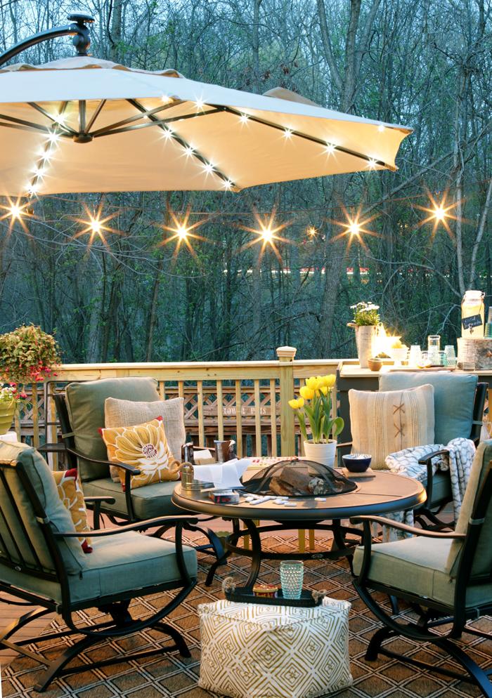 Remodelando la Casa: How to Hang String Lights on Deck