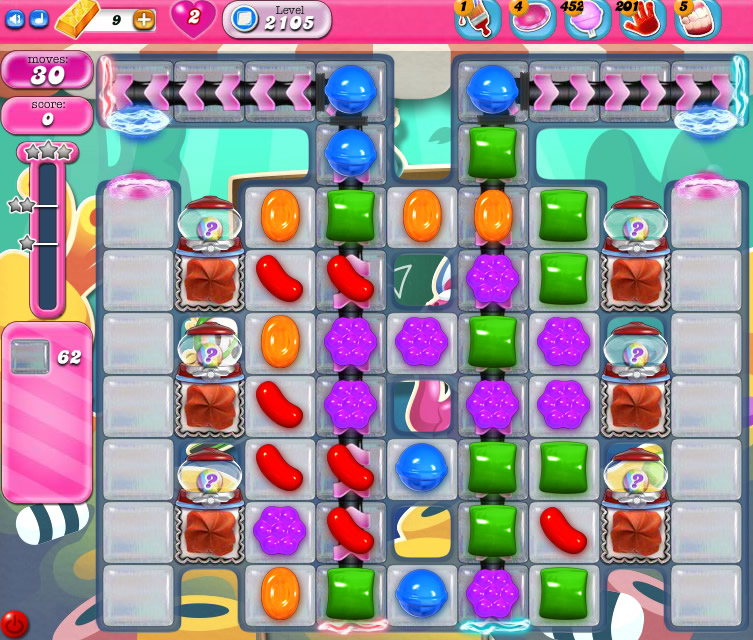 Candy Crush Saga level level 2105