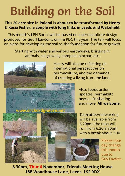 Building on the Soil presentation flyer