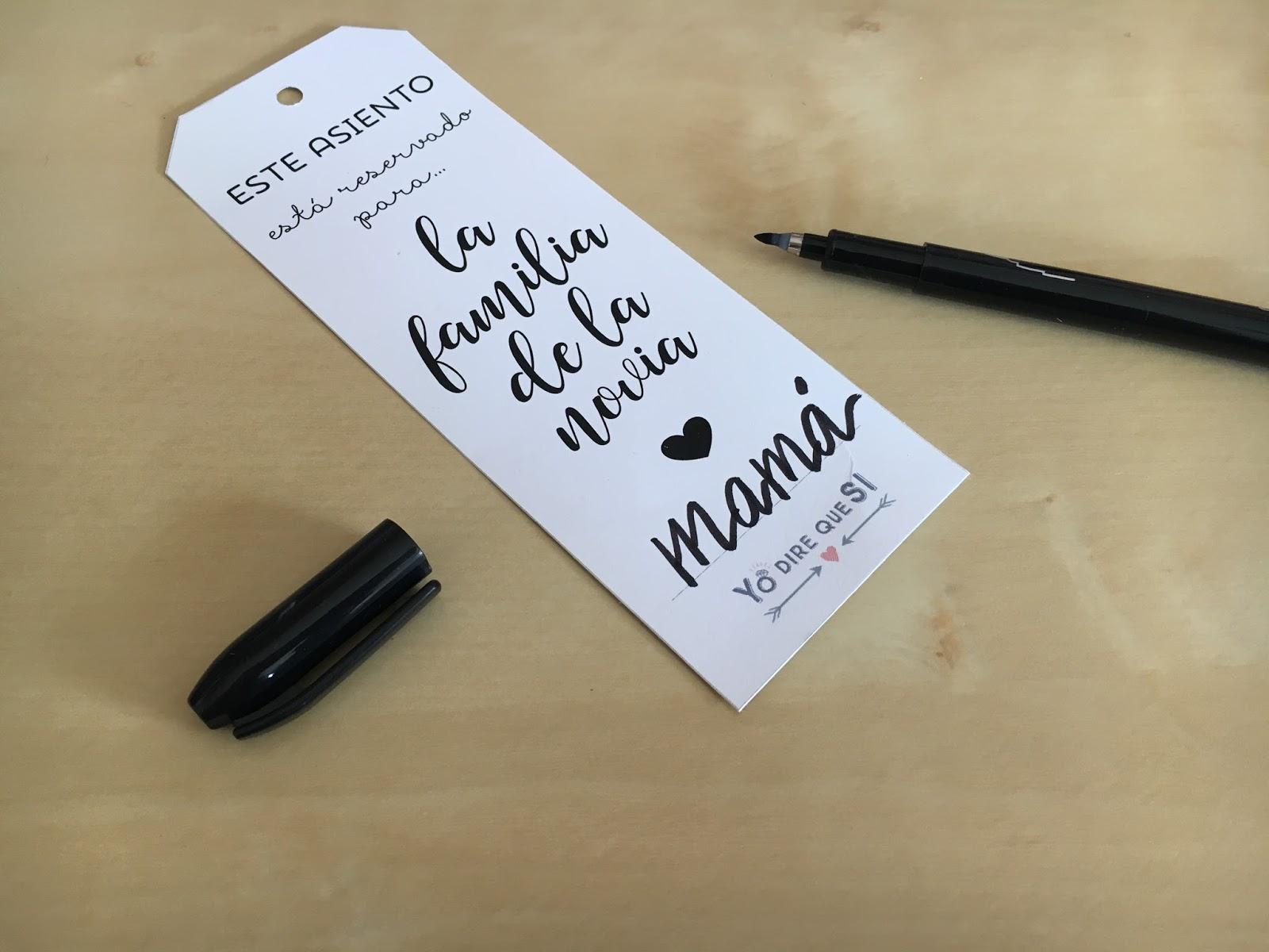 Blog de bodas - Yo dire que si: Etiquetas para reservar asientos ...