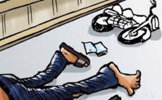 Pengendara Sepeda Motor Ini Jadi Korban Bus Berhenti Mendadak