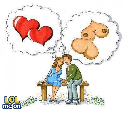 "funny cartoon and sex life picture shows expectation from love from ""LOL me on"""