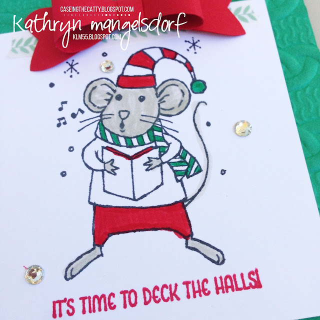 Stampin' Up! Merry Mice Christmas Card created by Kathryn Mangelsdorf