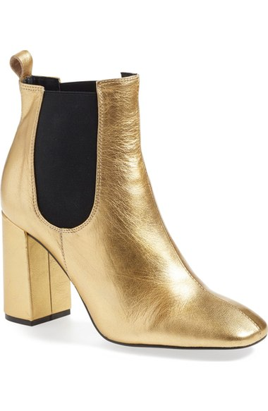 Inexpensive Gold Metallic Bootie
