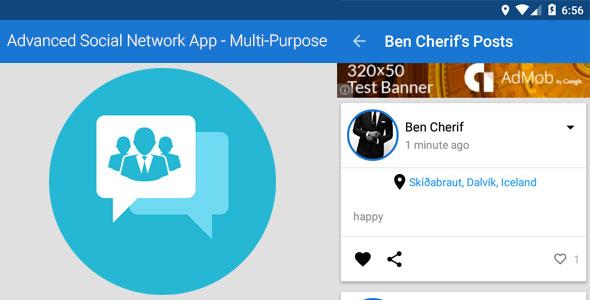 Advanced Social Network App - Multi-Purpose